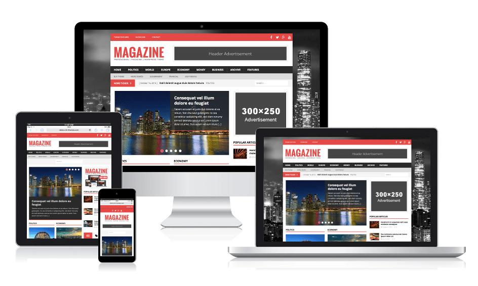 MH Magazine Responsive WordPress Theme
