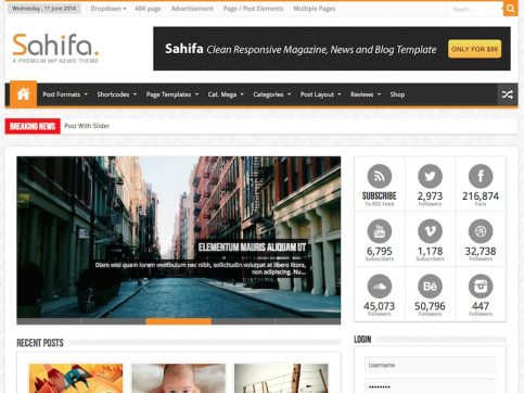 Sahifa Magazine WordPress Theme