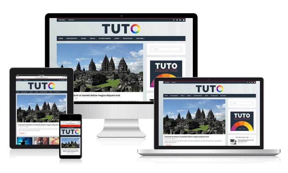 Tuto - Responsive Magazine WordPress Theme