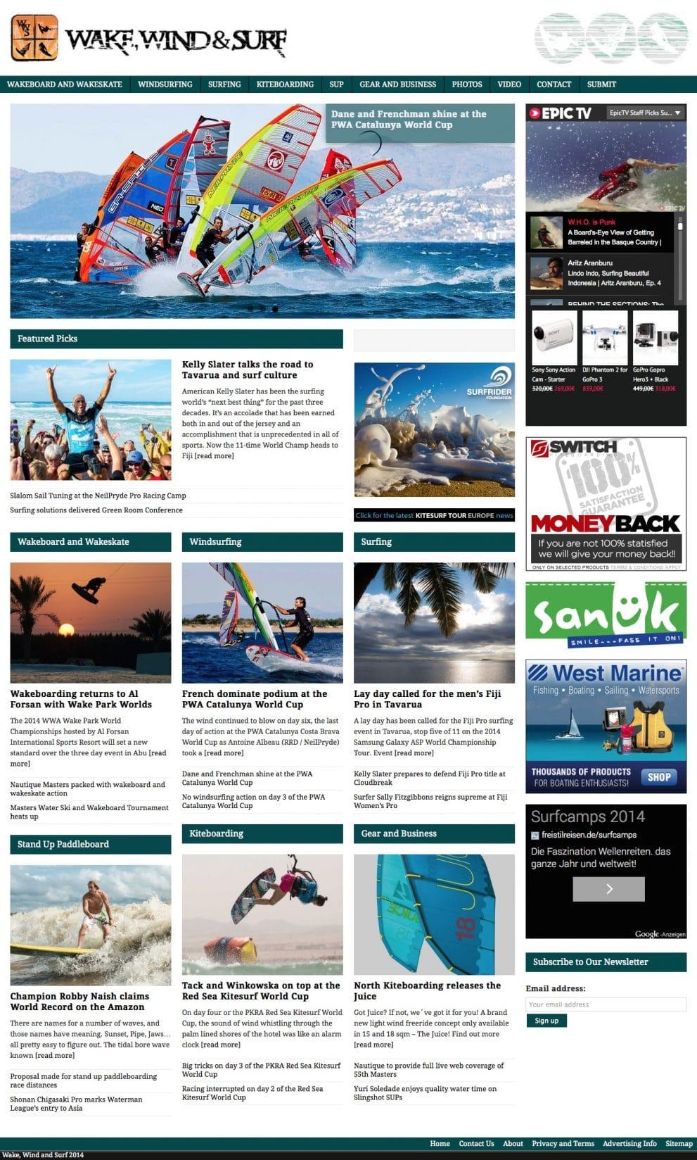 Wake, Wind & Surf News