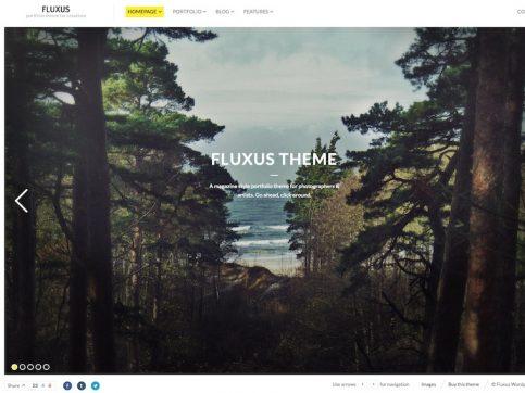 Fluxus Photography WordPress Theme