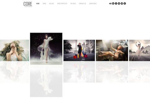 Core Minimalist Photography WordPress Theme