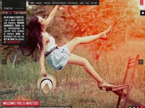 Invictus Photography WordPress Theme