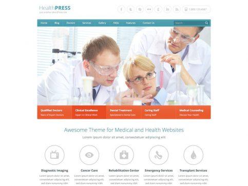 HealthPress Medical WordPress Theme