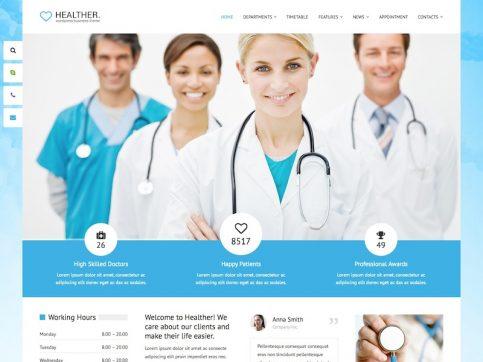 Healther Medical WordPress Theme