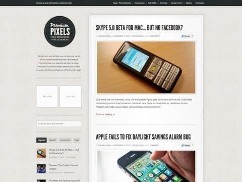 Premium Pixels Blog WP Theme