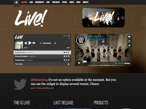 Live! Music WordPress Theme