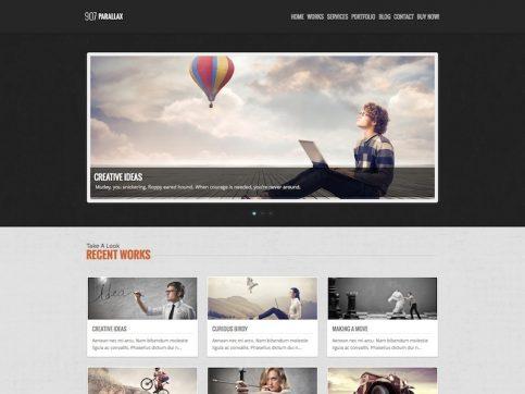 907 One-Page Parallax WordPress Theme