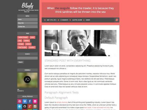 Blogly Blogging WordPress Theme