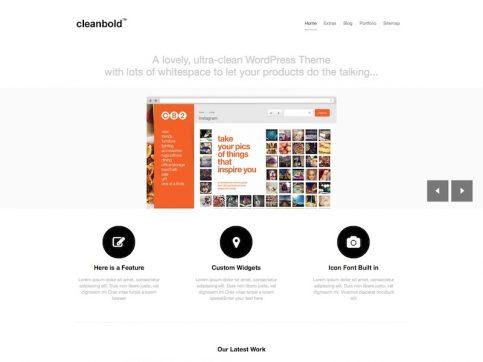 CleanBold Business WordPress Theme