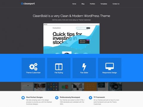 CleanPort Portfolio WordPress Theme