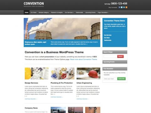 Convention Business WordPress Theme