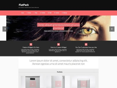 FlatPack Portfolio WordPress Theme