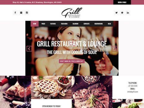 Grill Restaurant & Events WordPress Theme