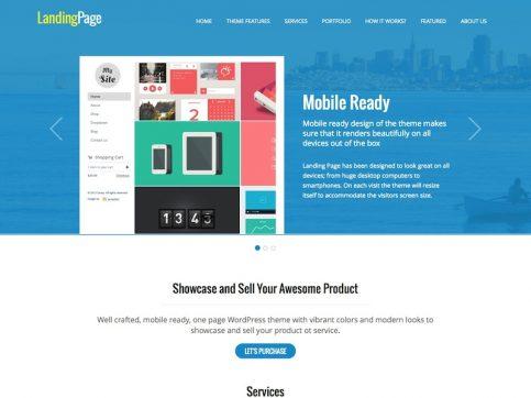 Landing Page One-Page WordPress Theme
