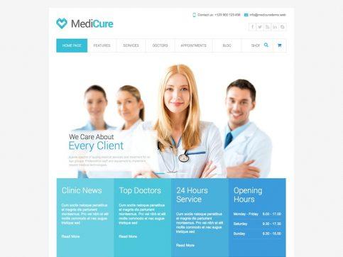 MediCure Medical WordPress Theme
