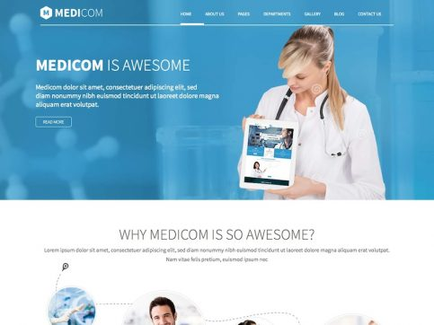 Medicom Medical WordPress Theme