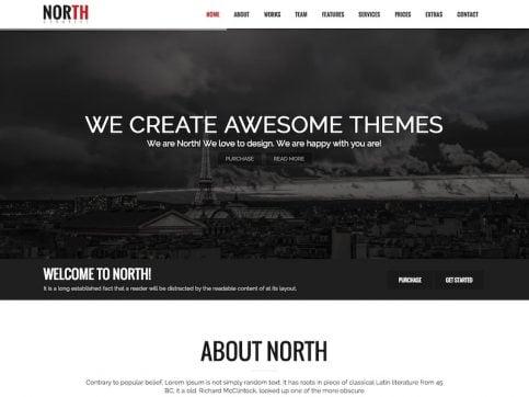 North Parallax One-Page WordPress Theme