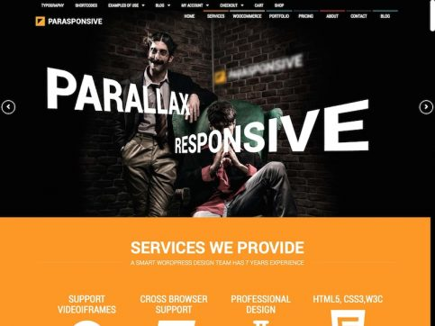 Parasponsive WooCommerce WordPress Theme