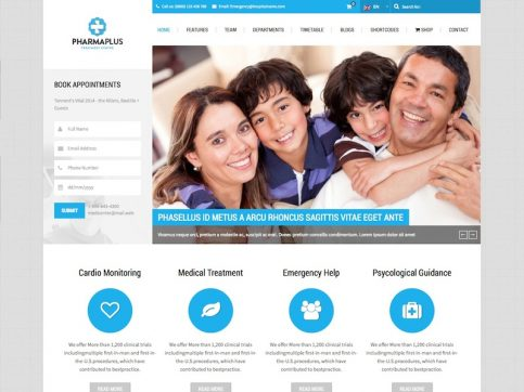 PharmaPlus Medical WordPress Theme