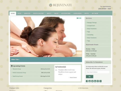 Rejuvenate Wellness WordPress Theme