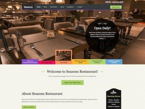 Seasons Restaurant WordPress Theme