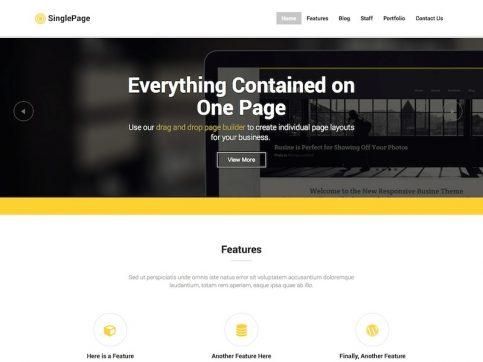 Single Page WordPress Theme
