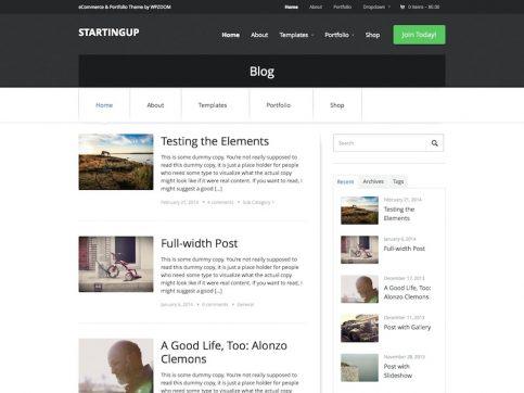StartingUp WooCommerce WordPress Theme
