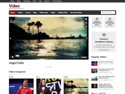 Video Multimedia WordPress Theme