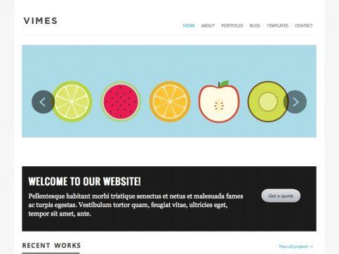 Vimes Portfolio WordPress Theme