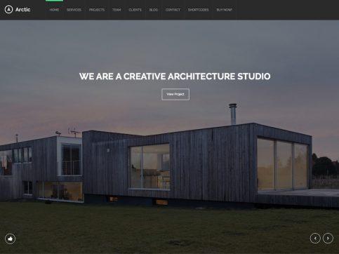 Arctic Portfolio WordPress Theme