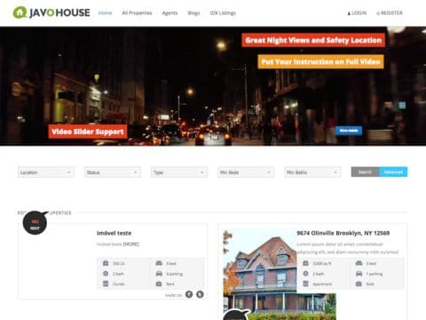 Javo House WP Theme