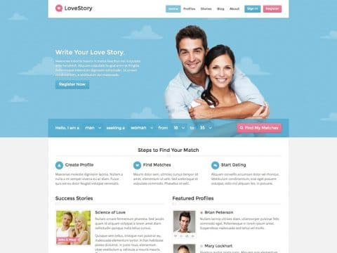 LoveStory WP Theme