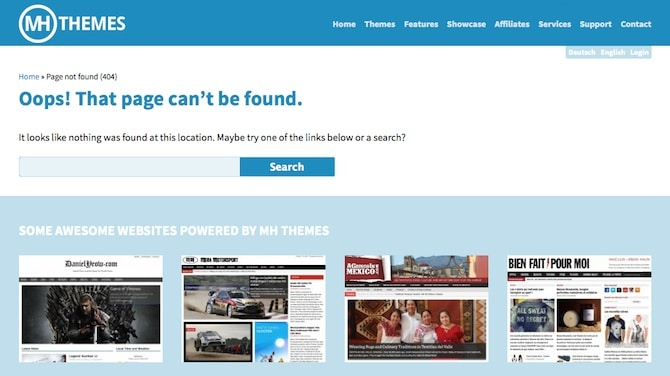 MH Themes 404 Page
