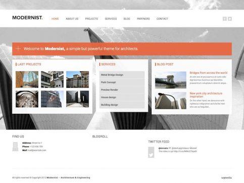 Modernist Business WordPress Theme