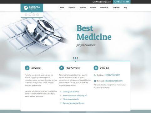 Panacea Medical WordPress Theme