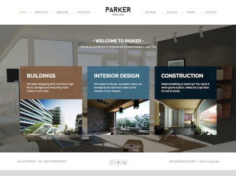 Parker Portfolio WordPress Theme