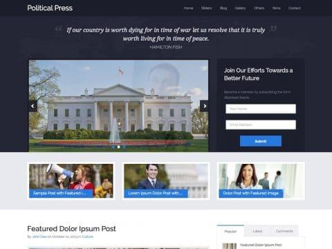 Political Press WP Theme