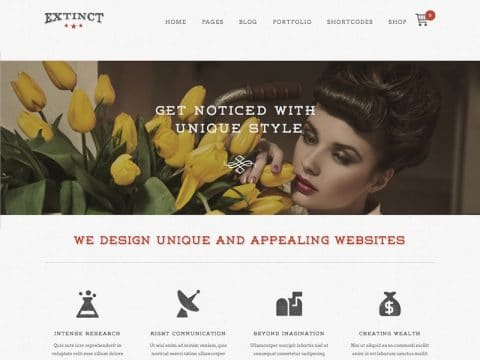 Extinct WordPress Theme