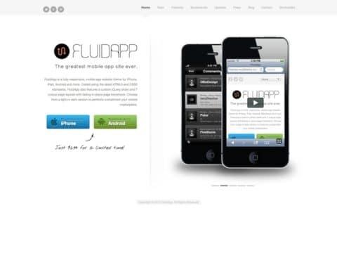 FluidApp WordPress Theme