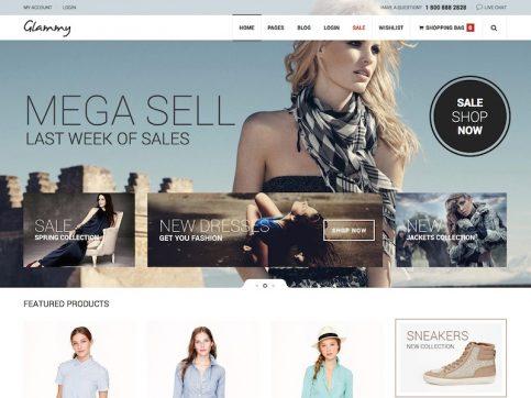 Glammy eCommerce WordPress Theme