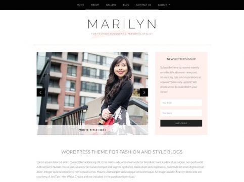 Marilyn Blog WordPress Theme