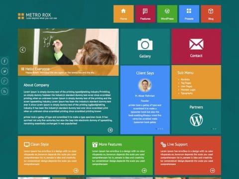 Metro Rox WordPress Theme
