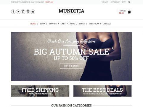 Munditia eCommerce WordPress Theme