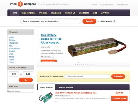 Price Compare WordPress Theme