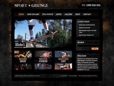 Sport Grunge WordPress Theme
