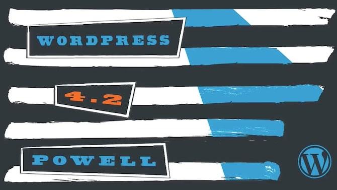 "WordPress ""Powell"""