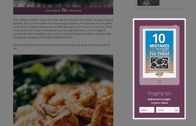 Sidebar Widget Email Form / Pinch of Yum