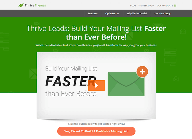 Thrive Leads Plugin