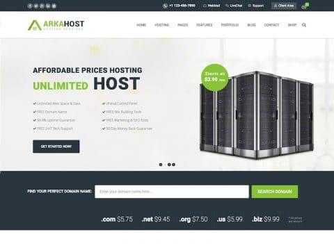ArkaHost WordPress Theme